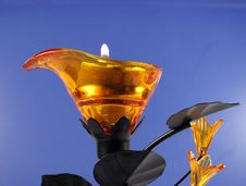 Candle In Candlestick Royalty Free Stock Photography