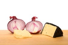 Free Red Onions And Cheese Royalty Free Stock Image - 4046096