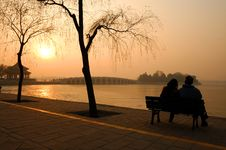 Free The Dusk Of Summer Palace Stock Photo - 4046230