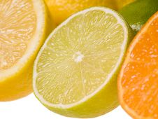 Sliced Citrus Fruits Royalty Free Stock Photos