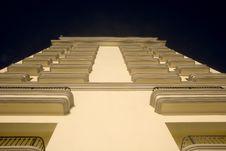 Balconies From Below Stock Photo