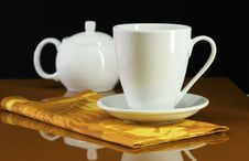 Coffee Cup And Pot Stock Image