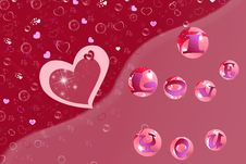 Love Bubbles Royalty Free Stock Photography