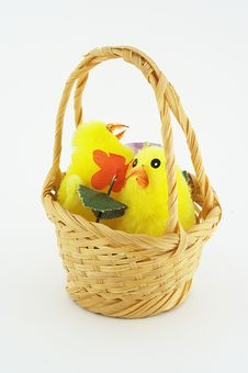 Free Chicken In Basket Stock Images - 4048414