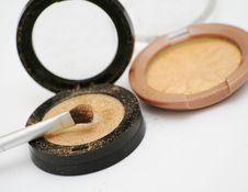 Free Gold Eyeshadow Stock Photography - 4048712