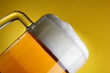 Free Beer Mug With Froth Close-up Royalty Free Stock Photo - 4048815