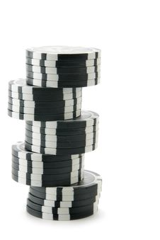 Black Casino Chips Royalty Free Stock Image