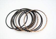 Black And Gold Bracelets Stock Image