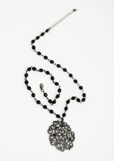 Free Black Necklace Royalty Free Stock Images - 4048989