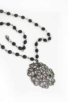 Free Black Necklace Royalty Free Stock Photos - 4048998