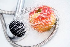 Free Apple, Drops And Shower Stock Photo - 4049030