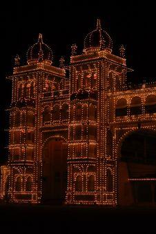 Free Mysore Palace Gate-V Stock Image - 4049071