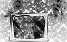 Tv Wallpaper Stock Photo