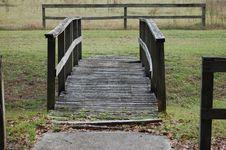 Free Wooden Bridge. Royalty Free Stock Photos - 4049898