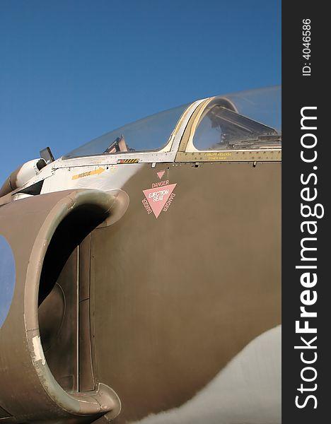 Jet fighter canopy