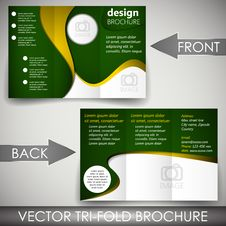 Free Tri-fold Corporate Business Store Brochure Royalty Free Stock Photography - 40467807