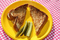 Free Grilled Cheese Sandwich With Pickles Stock Images - 4050484