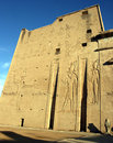 Free Entrance To Edfu Temple Royalty Free Stock Images - 4052919