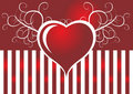 Free Heart And Strippes Stock Photography - 4053102