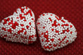 Free Two Valentine Hearts Candy Stock Photo - 4054870