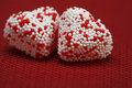Free Two Valentine Hearts Candy Royalty Free Stock Photo - 4054915