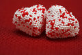 Free Two Valentine Hearts Candy Royalty Free Stock Image - 4054946