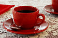 Free Red Coffee Cups Stock Photography - 4055582