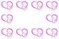 Free Hearts Frame Stock Image - 4057551