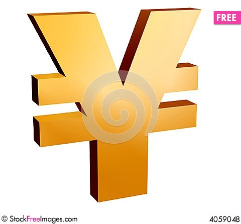 Free Yen Symbol, Royalty Free Stock Photos - 4059048