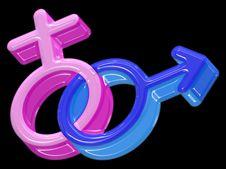 Male And Female Symbols Stock Photos