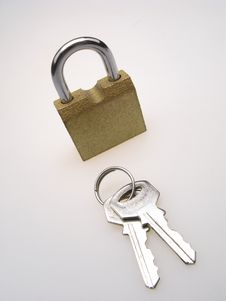 Free Padlock And Two Key Stock Photo - 4051560