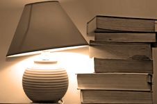 Free Lamp And Books Stock Photo - 4052070