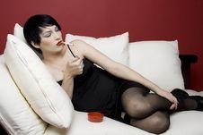 Free Woman Smoking Royalty Free Stock Photos - 4052278