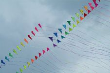 Free Colourful Kites Royalty Free Stock Photo - 4053445