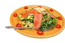 Salad From Seafoods Royalty Free Stock Images