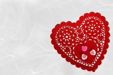 Free Red Lace Love Royalty Free Stock Image - 4054566