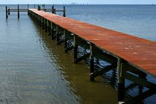 Free Empty Old Wooden Dock Stock Images - 4054914