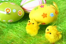 Free Pastel And Colored Easter Eggs Stock Image - 4055291