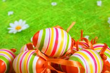 Free Pastel And Colored Easter Eggs Royalty Free Stock Photo - 4055365