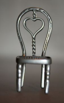 Free Heart Chair Aluminium Stock Image - 4055391