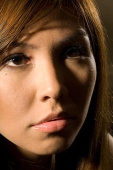 Commercial Headshot Makeup - Fashion Series Royalty Free Stock Photo