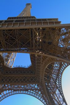 The Eiffel Tower From Underneath Royalty Free Stock Photos