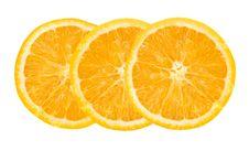 Free Three Orange Slices Stock Photo - 4056450