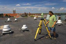Free Surveying During Spring Time Stock Image - 4056451