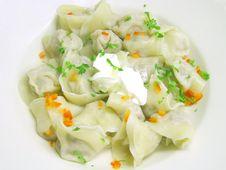 Free Seasoned Russian Dumplings Stock Image - 4056781