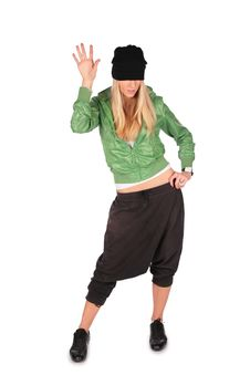 Free Hip-hop Girl Gesture Hello Royalty Free Stock Photos - 4056798
