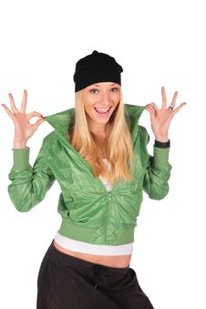 Free Hip-Hop Girl Gesture Ideal Stock Photo - 4056840