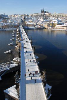 Free Charles Bridge In Prague Stock Image - 4057121