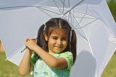 Free Girl Under An Umbrella Royalty Free Stock Photos - 4057818