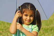 Free Girl Under An Umbrella Stock Photo - 4057820